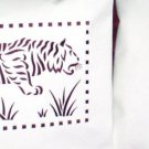 Art Deco Motif Tiger and Tree 20's Hoop 6x10 Machine Embroidery