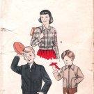 Vintage Butterick Unisex Jacket 50's Size 4