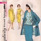 Vintage Pattern Simplicity 5279 Woman Walking Suit and Blouse 60s Size 40