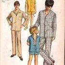 Vintage Simplicity 8860 Pattern Boy Pajamas 70s Size 10