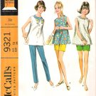 Vintage McCalls Pattern 9321 Misses Maternity Top and Pants 60s Size 12 Uncut