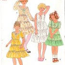 Vintage Pattern Butterick 6090 Child Girl Gipsy Dress 70s Size 10