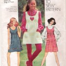 Vintage Pattern Simplicity 9776 Junior Jumper or Dress and Blouse 70s Size 12