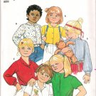 Vintage Pattern Butterick 4826 Child-Girl Blouse 80s Size 2 UNCUT