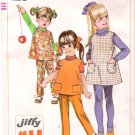Vintage Pattern Simplicity 7833 Child Jumper or Top and Pants 60s Size 3 UNCUT