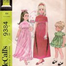 Vintage Pattern McCalls 9384 Child Girl Dress 60s Size 2