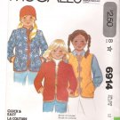 Vintage Pattern McCalls 6914 Girl Jacket and Vest 70s Size 12 UNCUT
