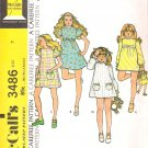 Vintage Pattern McCalls 3486 Girl Dress 70s Size 7 UNCUT