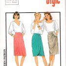 Vintage Pattern Style 4558 Miss Skirt 80s Size 6