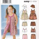 Pattern Simplicity 5540 Children-Girl Dress-Hat-Pants-Top-Shorts Size 3-8