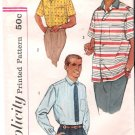 Vintage Pattern Simplicity 2081 Men Shirt 50s Size Small Breast 34-36