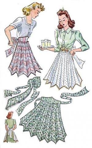 Vintage Half Apron 40's PDF Pattern No 21 Available in M-L-XL