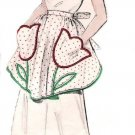 Vintage Half Apron 50's One Yard Fabric PDF Pattern No 14 Available in Sizes M-L-XL