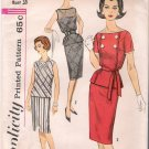 Vintage Pattern Simplicity 3879 Junior Dress Tops and Skirt 60s Size 13 B33