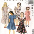 McCall's 6251 Child-Girl Dress 90s Size 4