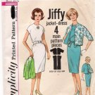 Vintage Pattern Simplicity 4897 Misses Dress and Jacket 60s Size Jr 11 B31.5 UNCUT