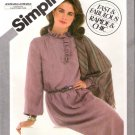 Vintage Pattern Simplicity 5276 Miss Pullover Dress and Shawl 80s 3 Sizes 10-12-14 UNCUT