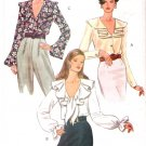 Pattern Vogue 8702 Misses Blouse - Top with Collar Variations 90s Size 12-14-16