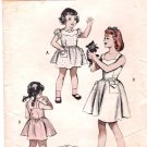 Vintage Butterick 5713 Girls' Dress 50's Size 4