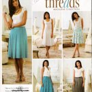 Pattern Simplicity 3841 Threads Collection Misses Skirt with Pleat Variations Size 14-22 UNCUT