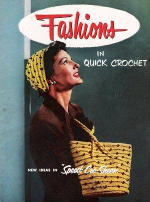 Vintage Pattern Crochet Hat and Bag Set 50s on Printable PDF