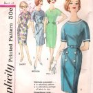 Vintage Pattern Simplicity 4297 Misses' One-Piece Dress in Proportioned Sizes Early 60s Size 12 B32
