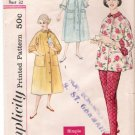 Vintage Pattern Simplicity 2310 Misses&#39; Two-Piece Lounging Pajama and Robe 50s Size 12 B32