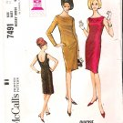 Vintage Pattern McCall's 7491 Misses Dress 60s Size 10 B31