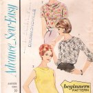 Vintage Pattern Advance 3421 Blouses 60s Size 10 B31