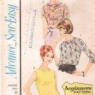 Vintage Pattern Advance 3421 Blouses 60s Size 10 B31
