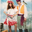 Costume Pattern Butterick 6731 Adult Pirate 80s All Sizes XS-L