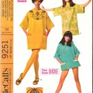 Vintage Pattern McCall&#39;s 9251 Misses Smock with Transfer 60s Size Medium B34-36