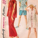 Vintage Pattern Simplicity 4971 Pajama with Short and Long Pants 50s Size 12 B30