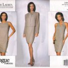 Pattern Vogue 2893 American Designer Ralph Lauren Jacket - Halter Dress and 90s Size 6-10 UNCUT