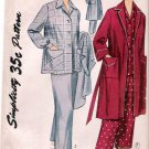 Vintage Pattern Simplicity 3651 Pajama and Robe 50s Size 14 B32