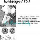 Repro Vintage Mail Order 7153 Make Earing - Necklace Etc. with Rick Rack Flower 50s on Printable PDF