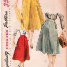 Vintage Pattern Simplicity 4850 Flare Skirt 50s Size Waist 24 UNCUT