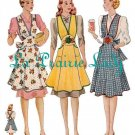 Vintage Full Apron 40's PDF Pattern No 4 Available in M-L-XL