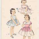 Vintage Pattern Advance 8571 Girl' Full Skirted Dress 50s Size 3