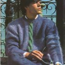 Knit Pattern Men Pullover No 1 Breast 40 or European 50 in 2 Languages Printable on PDF 80s