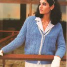 Knit Pattern Women Jacket No 1 Size 12-14or 42 in 2 Languages Printable on PDF 80s