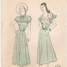 Vintage Pattern Butterick 4443 Day Dress 40s Size 12 B30