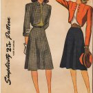 Vintage Pattern Simplicity 1741 Bolero and Skirt Suit 40s Size 11 B29