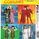 Costume  Pattern McCall's P214 Childrens and Girl All Size 3-8