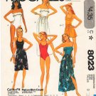 Vintage Pattern McCall&#39;s 8023 Bathing Suit and Skirt 80s Size 12-16