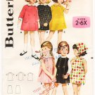 Vintage Pattern Butterick 2993 Girls' Dress 60s Size 6