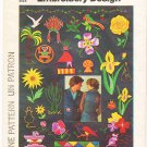 Vintage Patterns Simplicity 7516 Full Embroidery Transfer 70s UNUSED