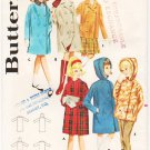 Vintage Pattern Butterick 2925  Girls' Box Coat and Jacket 60s Size 8