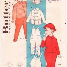 Vintage Pattern Butterick 9085 Toddlers' Boy and Girl Outwear Coordinates 50s Size 2