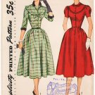 Vintage Pattern Simplicity 3750 Misses' Dress 50s Size 12 B30
